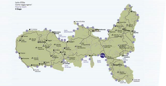 Cartina Elba Spiagge.Comuni E Spiagge Residence Il Doge Isola D Elba